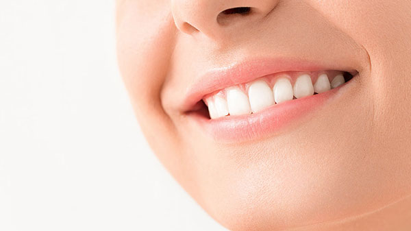 Closeup of person's smile